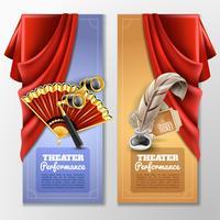 Conjunto de Banners de teatro e palco