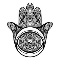 Ilustração de mão de Hamsa
