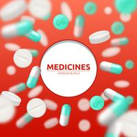 Ilustração médica de comprimidos