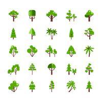 Coleção de conjunto de árvore vetor