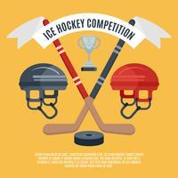Cartaz plana de competição de hóquei no gelo