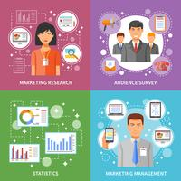 Método de Marketing Plano vetor