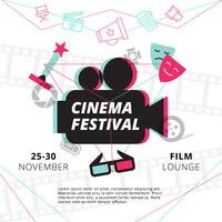 Cartaz do Festival de Cinema vetor