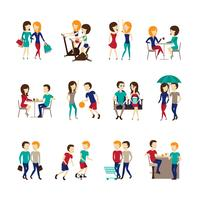 Conjunto de ícones de amigos