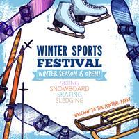 Cartaz de esporte de inverno vetor
