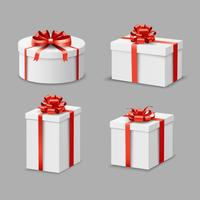 Conjunto de caixas de presentes vetor