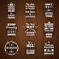 Conjunto diário de citações de sabedoria e motivação