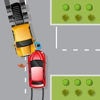 Ilustração de acidente de carro vetor