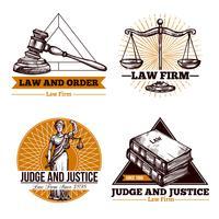 Empresa jurídica e conjunto de logotipo de escritório