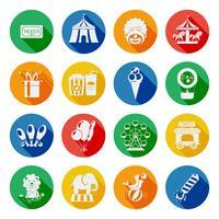 Conjunto de ícones de circo plana