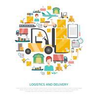 Logística e conceito de transporte vetor