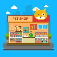Conceito de loja de animais de estimação vetor