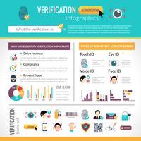 Conjunto de infográficos de verificação