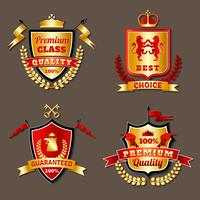Conjunto de emblemas realistas premium heráldico vetor