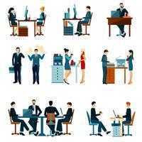 Ícones de trabalhador de escritório