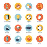 Conjunto de ícones de estratégia