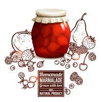 Conceito de jarra de marmelada vetor