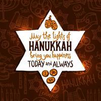 Cartão do feriado de Hanukkah vetor