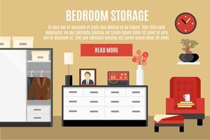 Ilustração de armazenamento de quarto