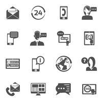 Entre em contato conosco conjunto de ícones vetor