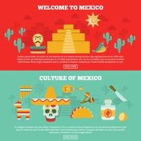 Conjunto de Banners mexicanos vetor