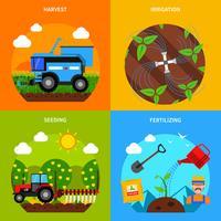 Conjunto de conceito de agricultura vetor