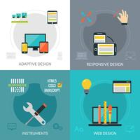 Design Web adaptativo e responsivo vetor