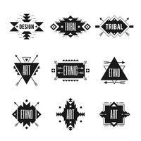 Conjunto de logotipo étnico vetor