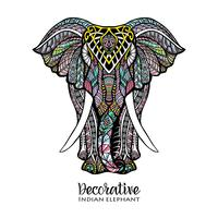 Ilustração colorida de elefante vetor