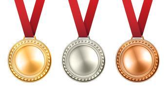Conjunto de medalhas ilustração vetor