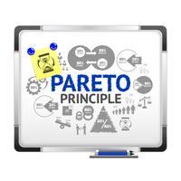 Ilustração do Princípio de Pareto vetor
