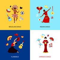Mulher, dançar, desenho, conceito