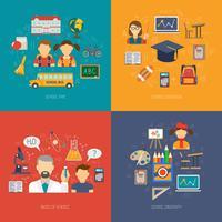 Conjunto plano de educação vetor