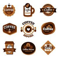 Conjunto de rótulos de café vetor