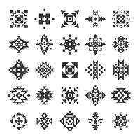 Conjunto de elementos geométricos étnicos vetor