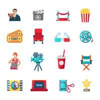 Conjunto de ícones de filmagem