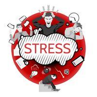 Ilustração do conceito de estresse