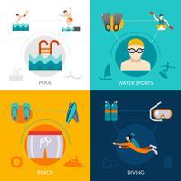 Conjunto plano de natação