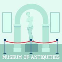 Museu das antiguidades poster vetor