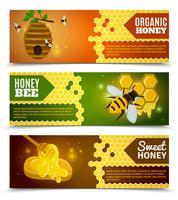 Conjunto de Banners de mel vetor