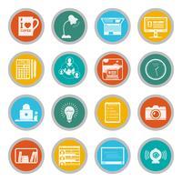 Conjunto de ícones freelance plana