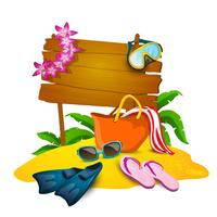 Praia e fundo de verão