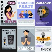 conjunto de cartazes de karaokê