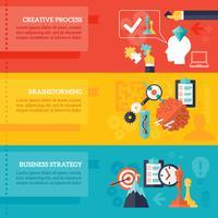 Conjunto de Banners de estratégia de negócios