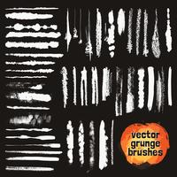 Conjunto de estilos de pincéis de quadro-negro vetor