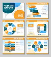 Conjunto de apresentação de infográfico vetor