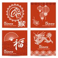 Conjunto de cartas chinesas