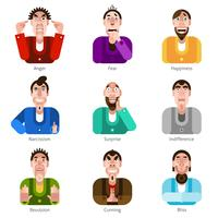 Conjunto de ícones de emoção vetor