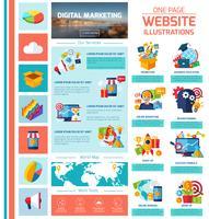 Infografia de Marketing Digital vetor