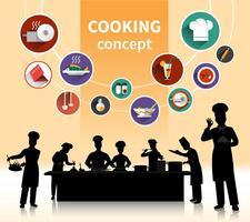 Cozinhando o conceito de pessoas vetor